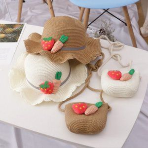 purse an toddler hat beige only new